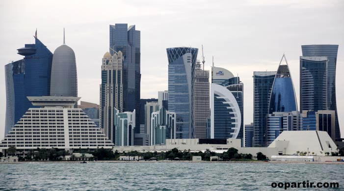 Skyline de West Bay (ou City Center) © oopartir.com