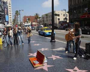 Le Walk of Fame sur Hollywood Boulevard