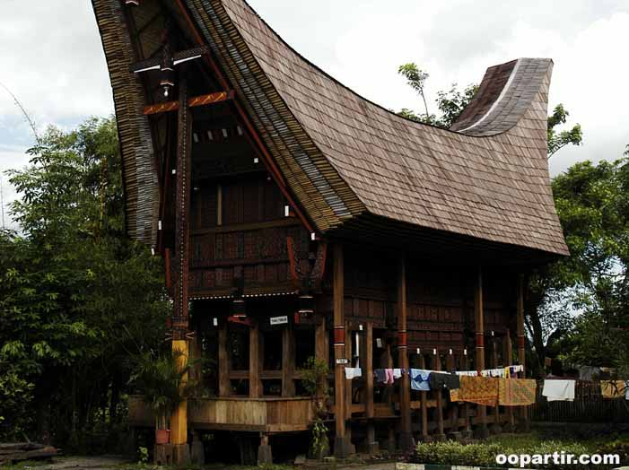 Maison traditionnelle, pays Toraja © Indonesia.Travel